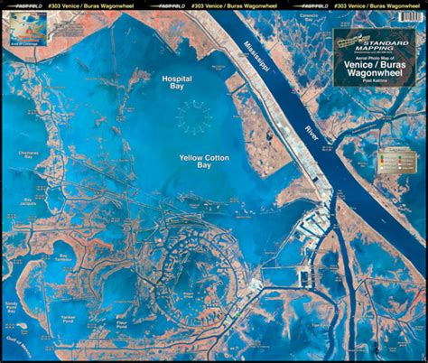 louisiana fishing map venice wagon wheel aerial chart la3 keith map service inc