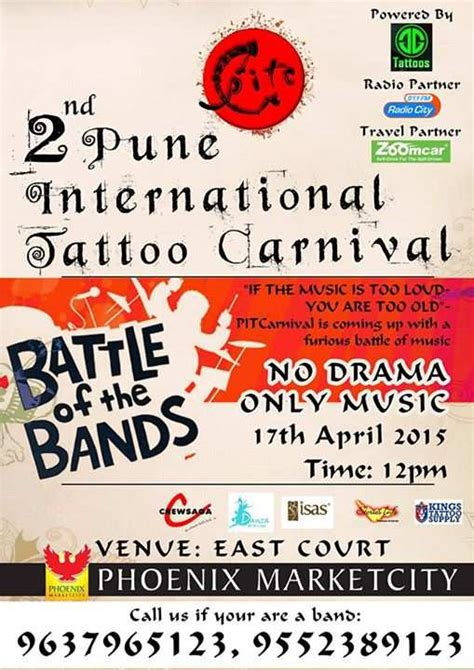 tattoo convention pune 2nd pune international tattoo carnival at phoenix