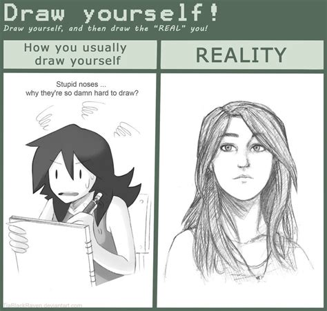 Drawing Yourself by Meme Draw Yourself By Tiablackraven On Deviantart