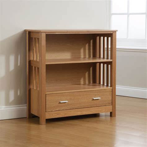 Low Bookcase With Drawers by Ashford Low Bookcase 1 Drawer Ash Iwoot