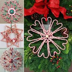 diy candy cane christmas wreath