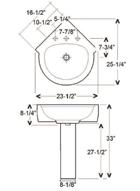 corner sink dimensions barclay porcelain regular and corner pedestal sinks