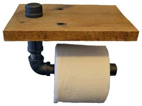 reclaimed wood pipe toilet paper holder home do not reclaimed wood and pipe toilet paper holder raw