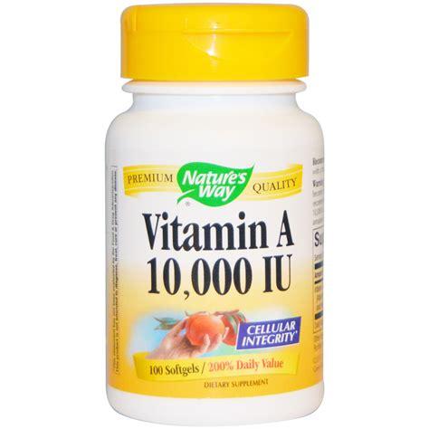 vitamin o supplement nature s way vitamin a 10 000 iu 100 softgels iherb