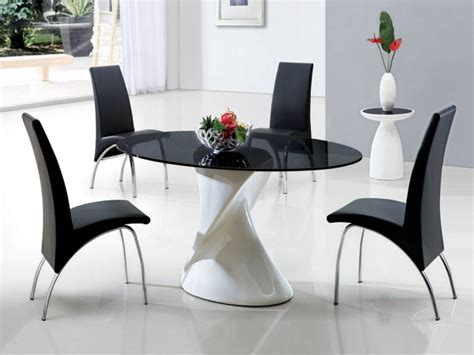 black glass dining table a special atmosphere with black glass dining table