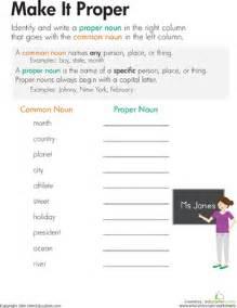 nouns make it proper worksheet education com
