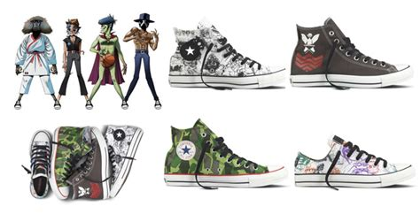 Sepatu Converse Gorillaz from pop culture painted shoes to comic book wedges mave