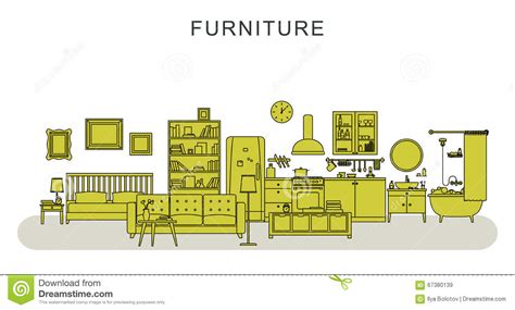furniture and home decoration stock vector image 67380139