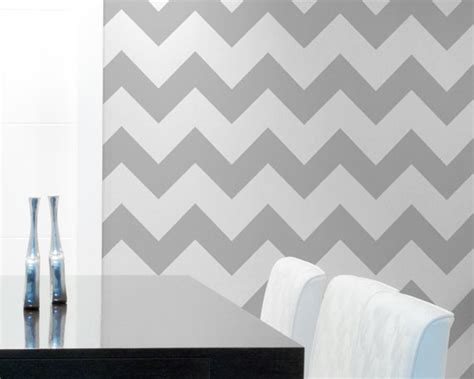 classic chevron wall stencil paint large chevron stripes