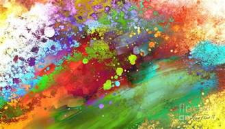 colored painters color explosion abstract painting by powell