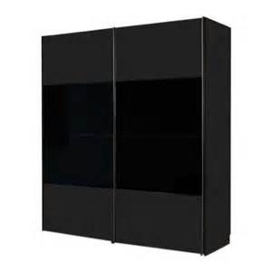 armoire 224 portes coulissantes laval noir verre noir