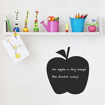 apple wall stickers apple chalkboard wall sticker by spin collective