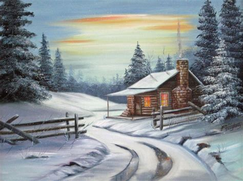 winter woods watercolor clip pine trees snow log cabin watercolor background tranquil evening winter nature background wallpapers on desktop nexus image 519610