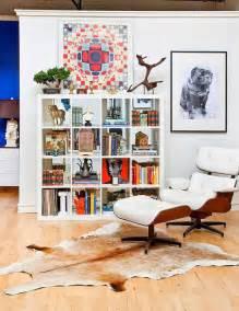 Sheepskin Rug On Chair Modern Luxe Bohemian Loft Design