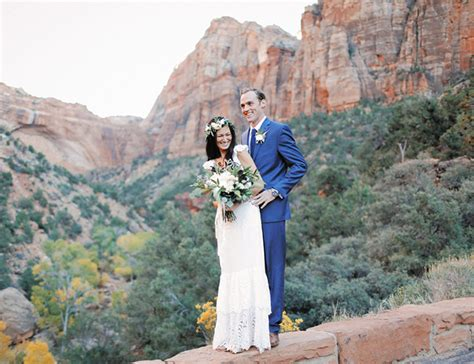 Wedding Zion National Park by Intimate Zion National Park Wedding Inspired By This