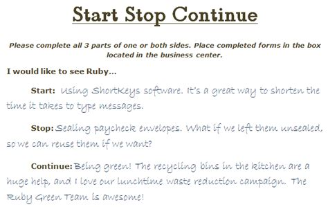 keep stop start template start stop continue feedback exles search
