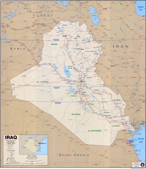 map of turkey and iraq iraq map