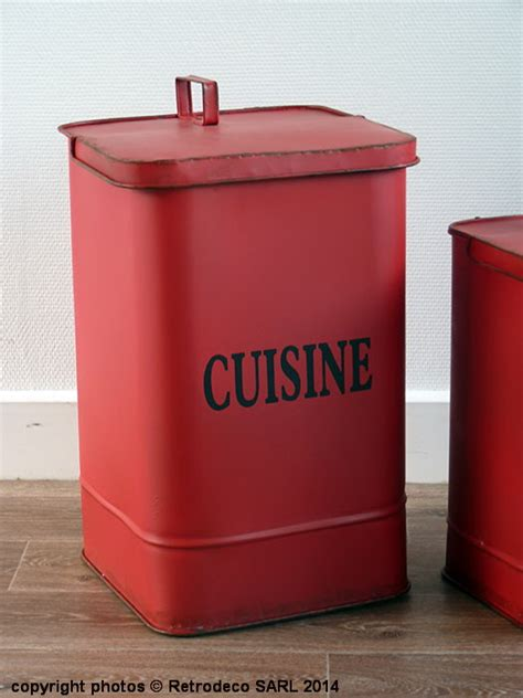 poubelle metal cuisine gm deco brocante seb