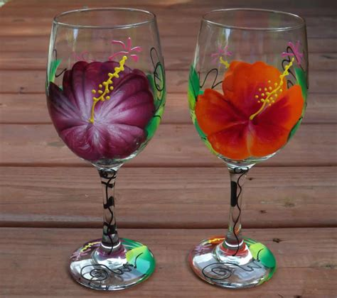 Home Interiors Candle Holders by Wine Glass Painting Flowers Paint Inspirationpaint