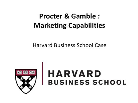 Procter And Gamble Mba Schools by Procter Gamble Study