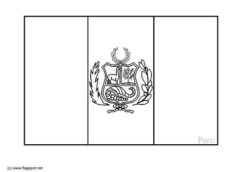 flag coloring pages with key peru flag free coloring pages