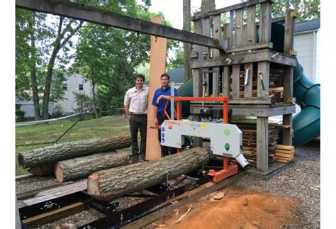brothers satisfy woodworking passion  portable sawmill