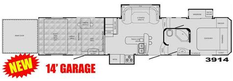 cyclone toy hauler floor plans used 2009 heartland cyclone 3914 toy hauler fifth wheel at