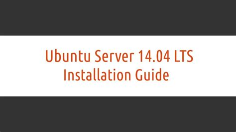 How To Install L On Ubuntu Server by How To Install Ubuntu Server 14 04 Lts Trusty Tahr Linux