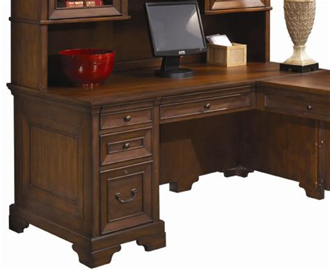 aspenhome richmond 66 inch single pedestal computer desk