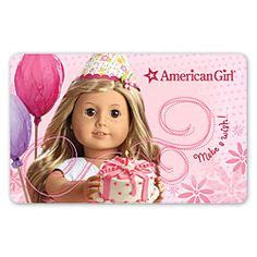 American Girl Gift Card - 1000 images about projects to try on pinterest american girl cakes american girl