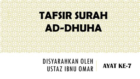 Tafsir Ayat Ayat Pendidikan Abudin Nata ad dhuha ayat ke7 uito