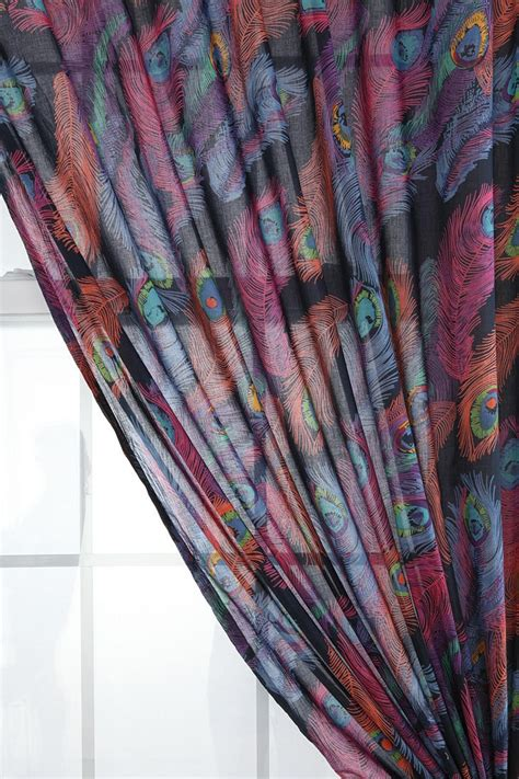 peacock curtains peacock feather curtain