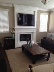 Beadboard Wall Bookcase Custom Mantel In Murrieta Television Mounted Over The