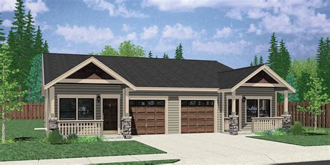 one level duplex house plans duplex house plans one level duplex house plans d 529