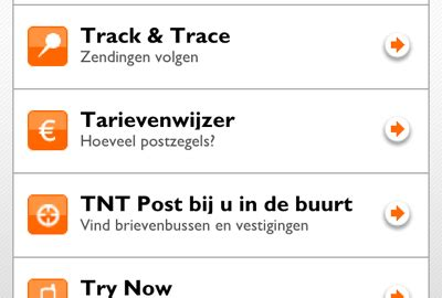 posttarieven tnt tnt post lanceert twee iphone apps tnt post en kaart sturen