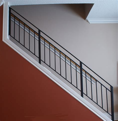 metal stair rails and banisters wrought iron stairway railing toronto custom metal