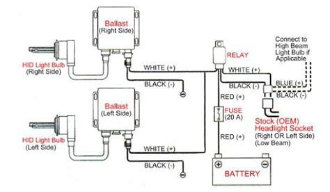 universal hid conversion kit single beam relay resistor