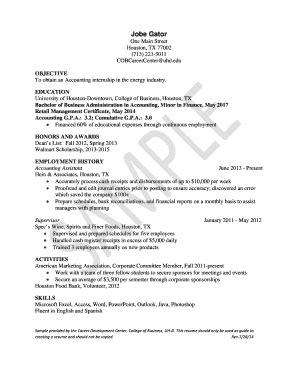 chronological resume sle pdf chronological resume template pdf forms fillable printable sles for pdf word pdffiller