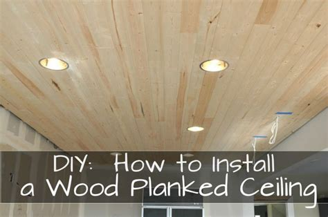 diy   install  wood planked ceiling  lightweight