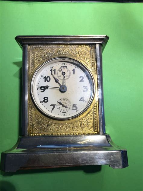 travel alarm with alarm clock and chime barrel box junghans 1900 fully functional