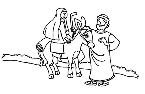 coloring pictures of joseph and mary cartoon picture mary and the donkey coloring pages best
