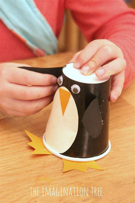 Paper Cup Craft For - paper cup penguin craft roll and make ideas