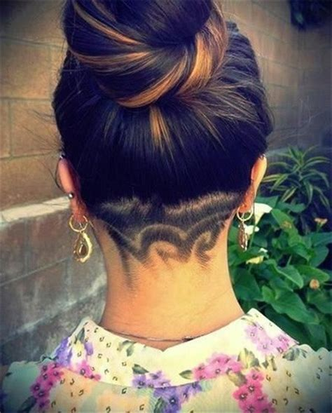 shaved haircut designs tumblr heard about women s hair tattoo designs try one of them
