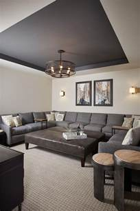 basement paint color walls are benjamin revere pewter and the tray ceiling is benjamin
