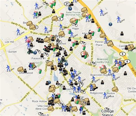 bryan texas map spotting crime in bryan texas spotcrime the s crime map
