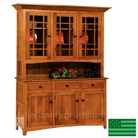 Wooden Hutch Amish Mission Viejo Three Door Hutch Solid Wood Made In