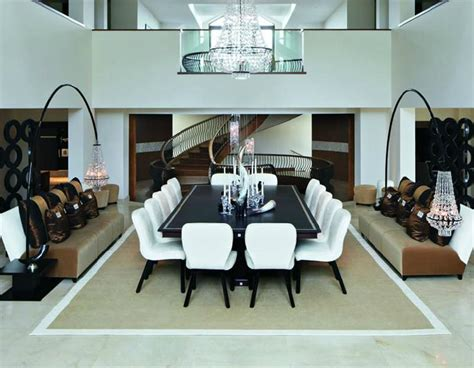 dramatic contemporary dining room by kelly hoppen