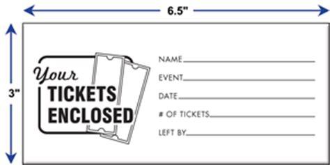 printable ticket envelope pre printed stock ticket envelopes