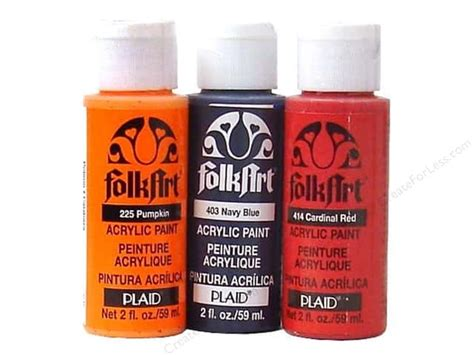 folk acrylic paint bulk plaid folkart acrylic paint 2 oz createforless