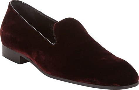 mens velvet loafers for sale alberto velvet venetian loafers in for lyst